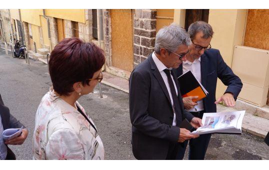 Présentation des opérations de renouvellement urbain en cours et projetées à M. le Préfet et Mme la Sous-Préfète de Grasse